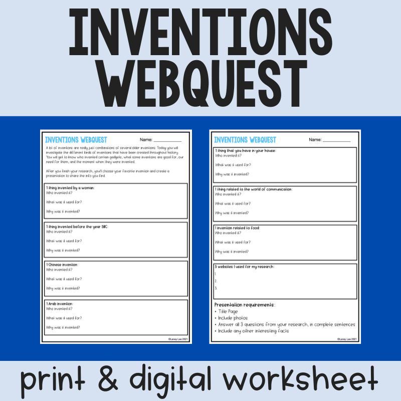 inventions webquest