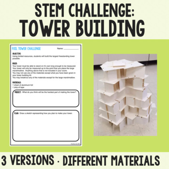 first day of school science tower building activity