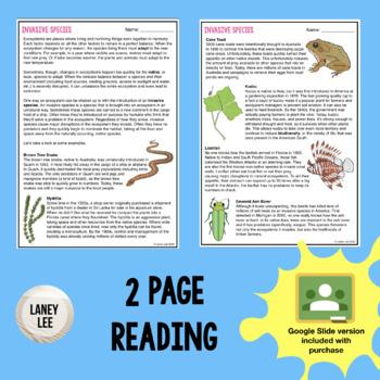 Invasive Species   Guided Practice Worksheet   PDF ...