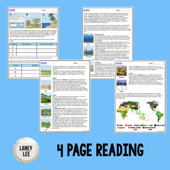 Biomes - Guided Practice Worksheet PDF with Answer Key