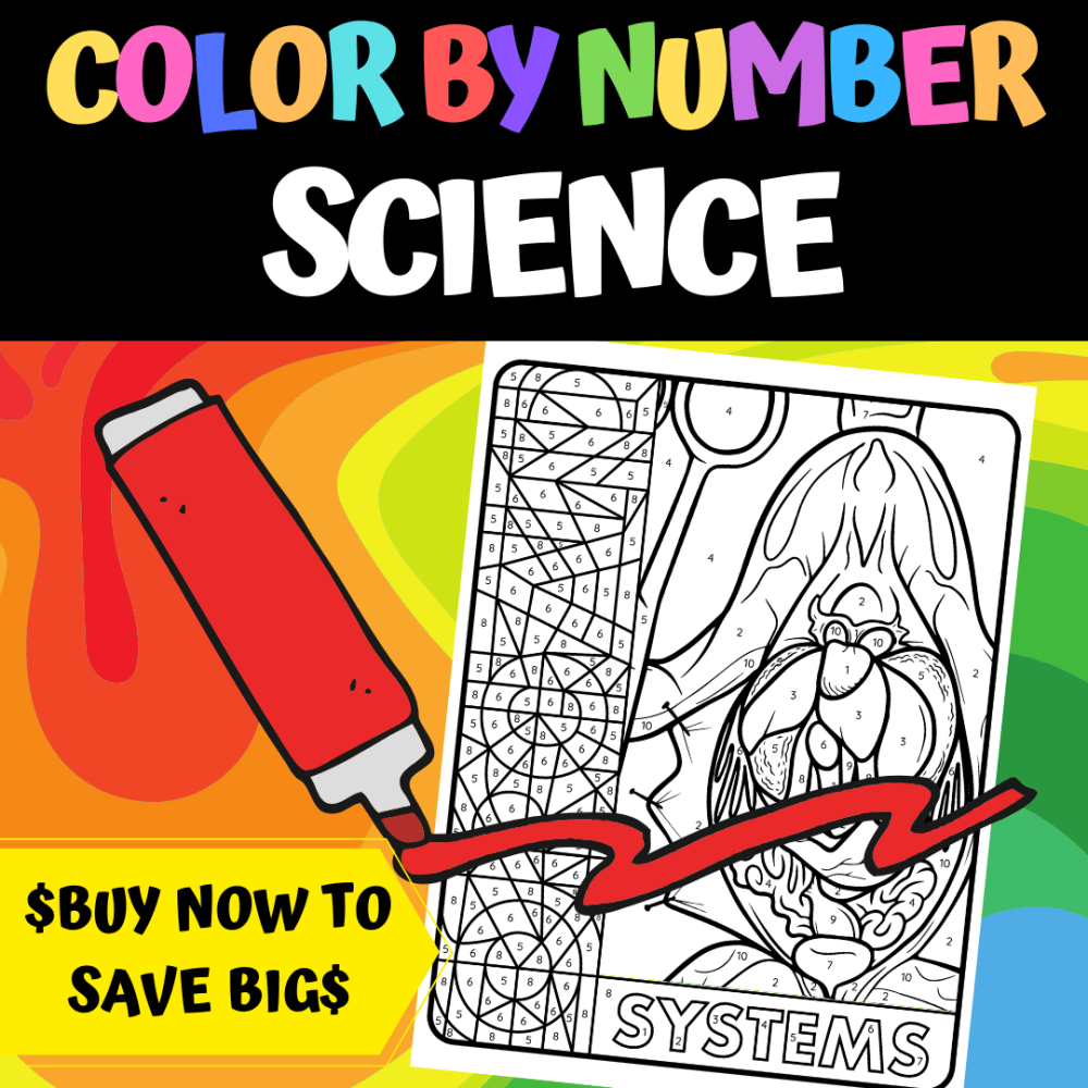 color by number science bundle