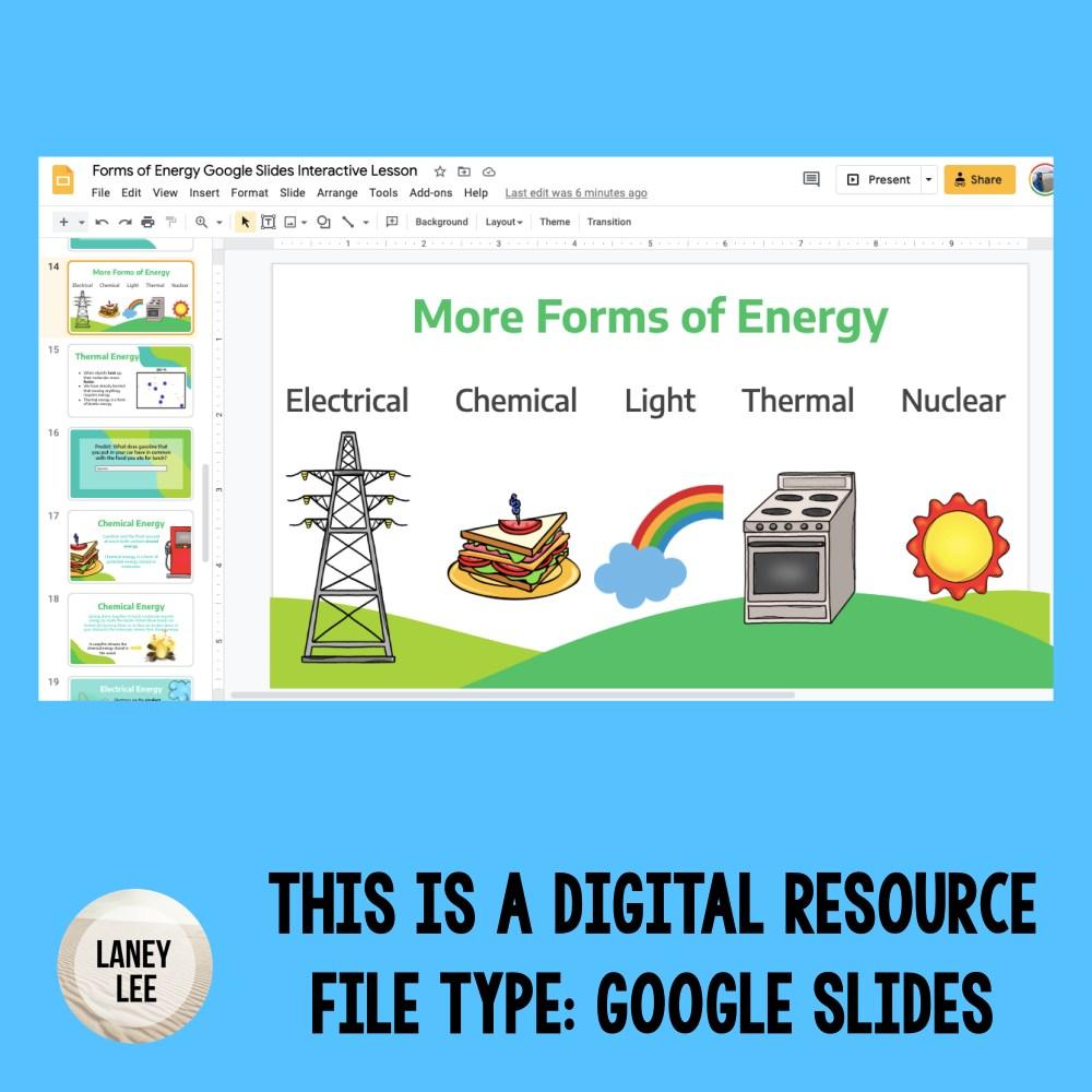 forms of energy google slides presentation