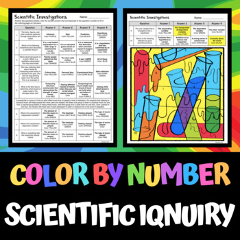 scientific investigations color by number