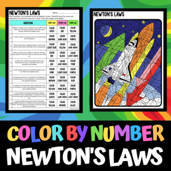 color by number newtons laws