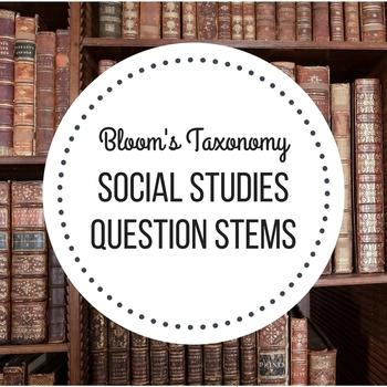 blooms question stems social studies