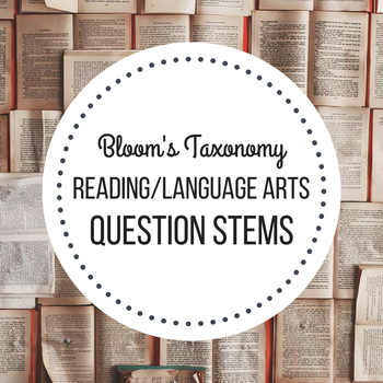 blooms question stems reading