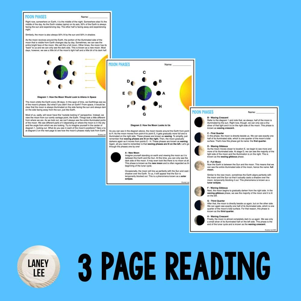 moon phases worksheet pdf answer key