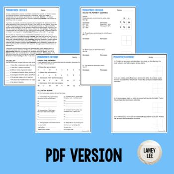 punnett square practice worksheet pdf answer key monohybrid
