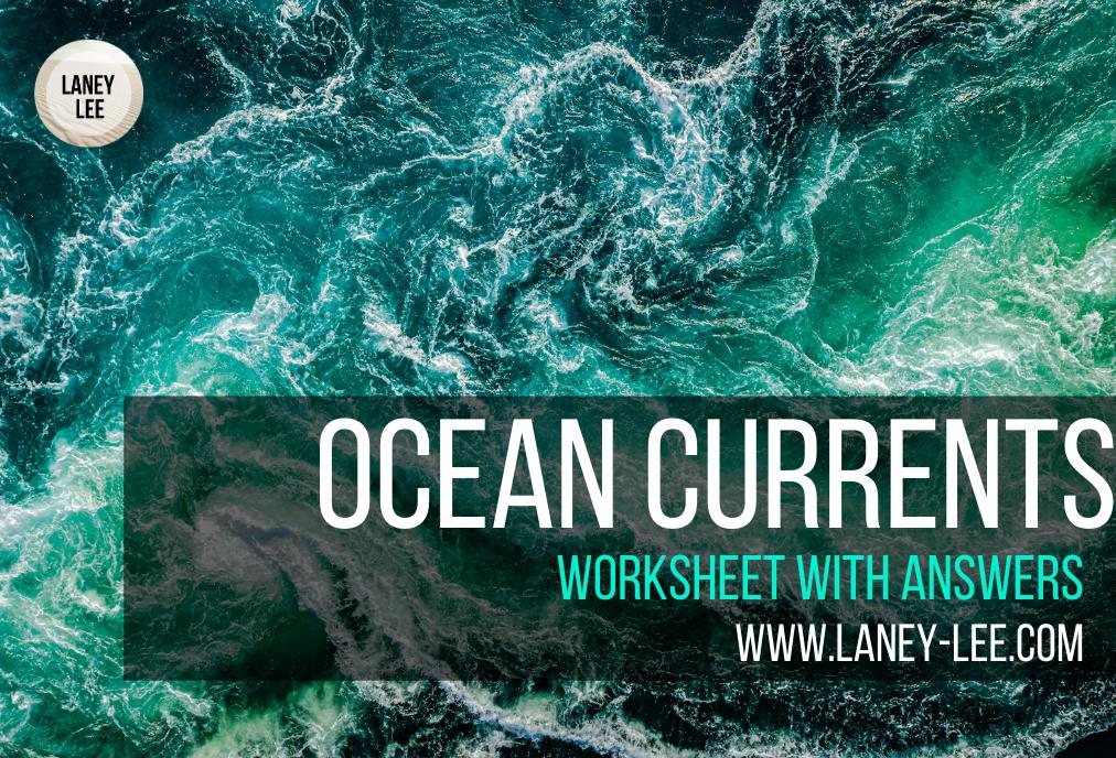 ocean currents worksheet PDF answer key
