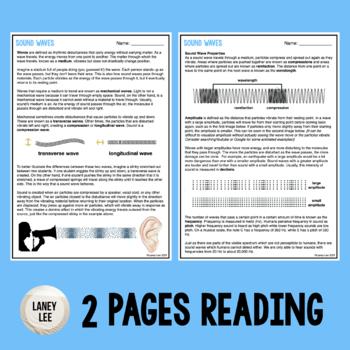 sound waves worksheet pdf answer key