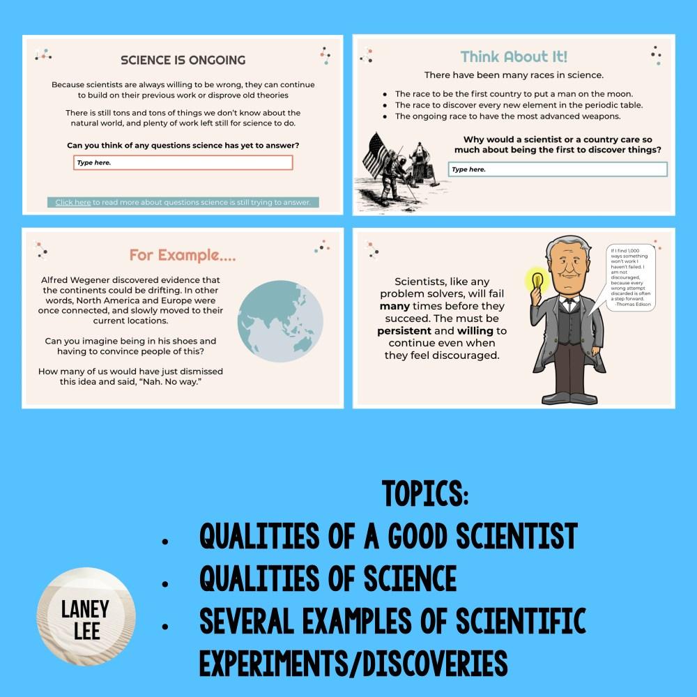 what is a scientist google slides presentation