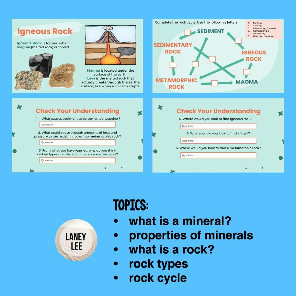 rocks and minerals google slides presentation