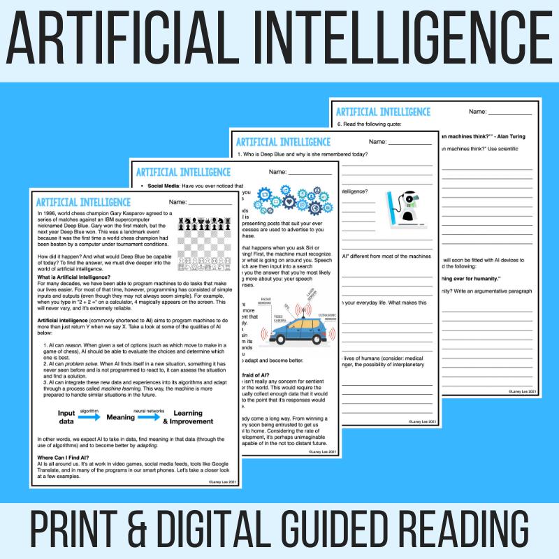 Artificial intelligence worksheet