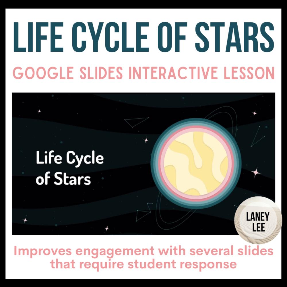 star life cycle presentation google slides