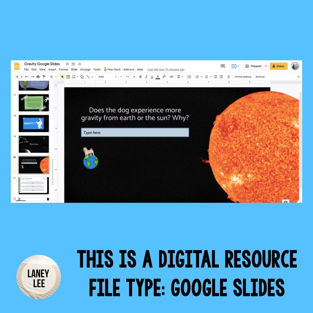 Gravity Presentation Google Slides
