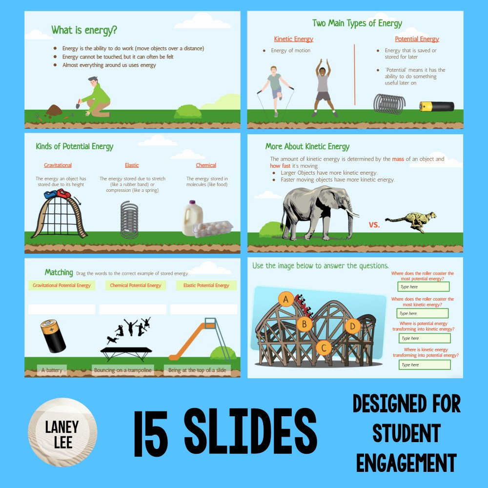kinetic vs potential energy google slides presentation