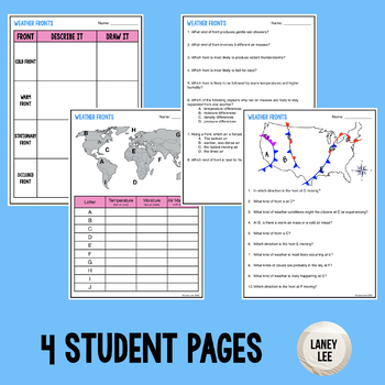 air masses and fronts worksheet pdf with answer key