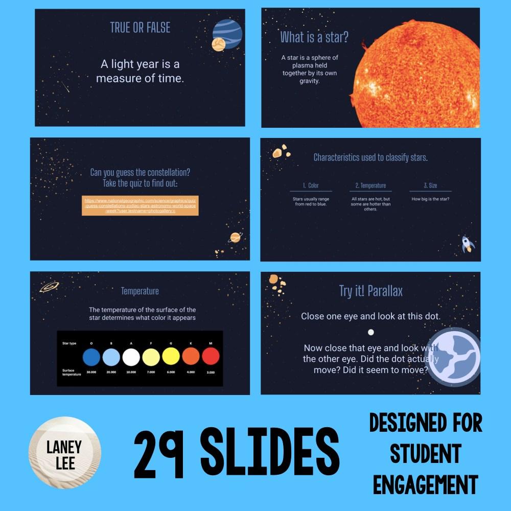 characteristics of stars google slides presentation