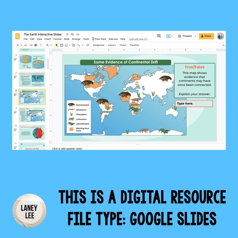 plate tectonics google slides presentation